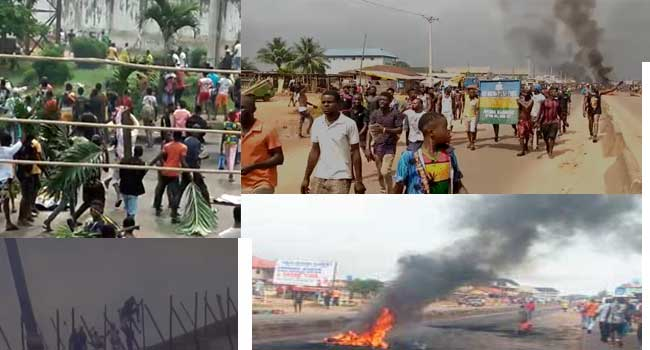 Chaos at the #EndSARS Protest, Benin