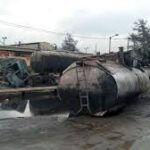 DISASTER AS VEHICLES BURST INTO FLAME IN LAGOS EXPLOSION