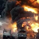SIX DIE IN EXPLOSION CAUSED BY TANKER COLLISION