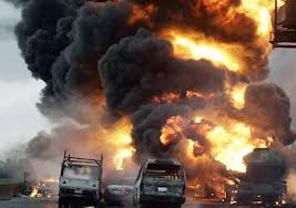 tanker carrying petrol collided and exploded