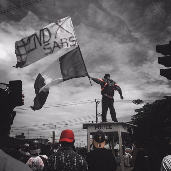 #EndSARS protested waves flag