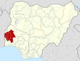 pictorial presentation of Ibadan on the map of Nigeria