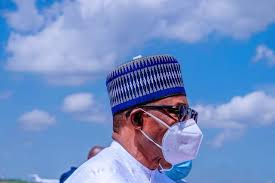 president of Nigeria on a nose mask