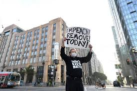 lone protester demonstrating against a cause