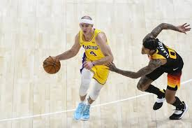 a lakers player in action