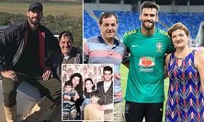 Alisson Becker and his family