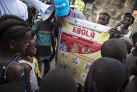 group of people during a sensitization program of a deadly virus in DR Congo