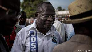 an opposition leader during a campaign rally