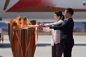 lighting of the Olympics torch in Tokyo