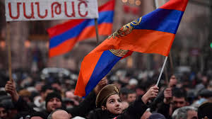 Supporters of Armenian Prime Minister