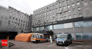 polish hospital where COVID-19 cases are detected