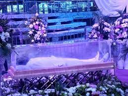 late cleric's body lying-in-state